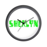 Sherlyn Faded (Green) Wall Clock