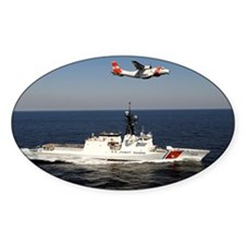 coast guard Oval Sticker (50 pk)