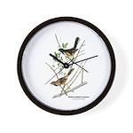 Audubon Towhee Bird Wall Clock