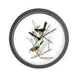 Audubon Towhee Bird Wall Clock