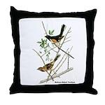 Audubon Towhee Bird Throw Pillow
