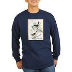 Audubon Towhee Bird (Front) Long Sleeve Dark T-Shi