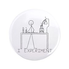 "I Experiment 3.5"" Button (100 pack)"