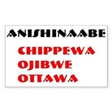 ANISHINAABE Rectangle Decal