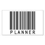 Planner Barcode Rectangle Sticker 10 pk)