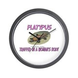 Platypus Trapped In A Woman's Body Wall Clock