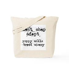 Don't Shop, Adopt - Tote Bag