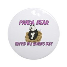 Panda Bear Trapped In A Woman's Body Ornament (Rou