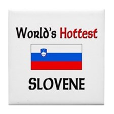 World's Hottest Slovene Tile Coaster