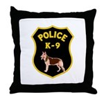 K-9 Badge Throw Pillow