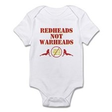 Redheads not Warheads Infant Bodysuit