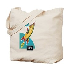 Space Rocket Ride Tote Bag
