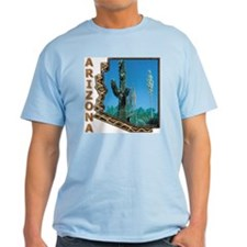 Arizona Saguaro Cactus Ash Grey T-Shirt