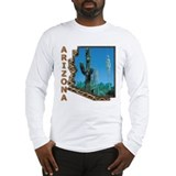 Arizona Saguaro Cactus Long Sleeve T-Shirt