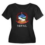 Nepal Coat of Arms Women's Plus Size Scoop Neck Da