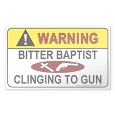 Warning Bitter Baptist Rectangle Sticker 10 pk)