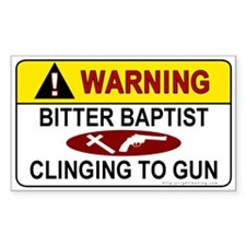 Warning Bitter Baptist Rectangle Sticker 50 pk)