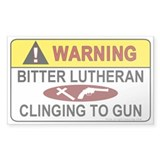 Warning Bitter Lutheran Rectangle Decal