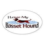Basset Hound Oval Sticker