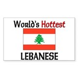 World's Hottest Lebanese Rectangle Decal