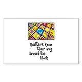 Quilters - Around the Block Rectangle Sticker 10