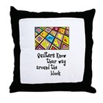 Quilters - Around the Block Throw Pillow