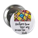 Quilters - Around the Block 2.25&quot; Button