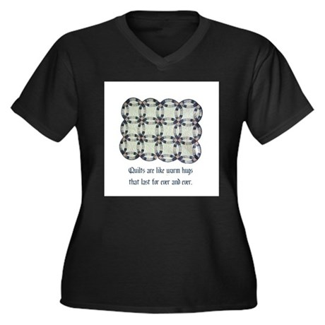 Quilts Are Like Warm Hugs Women's Plus Size V-Neck