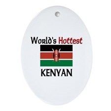 World's Hottest Kenyan Oval Ornament