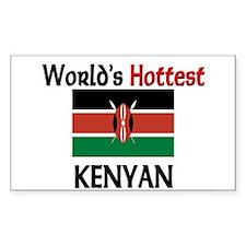 World's Hottest Kenyan Rectangle Decal