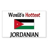 World's Hottest Jordanian Rectangle Decal