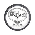 Girl's Lie Wall Clock