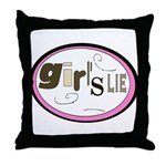Girl's Lie Throw Pillow