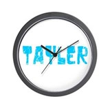 Tayler Faded (Blue) Wall Clock