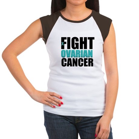 Fight Ovarian Cancer Women's Cap Sleeve T-Shirt