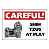Shih Tzus At Play Banner