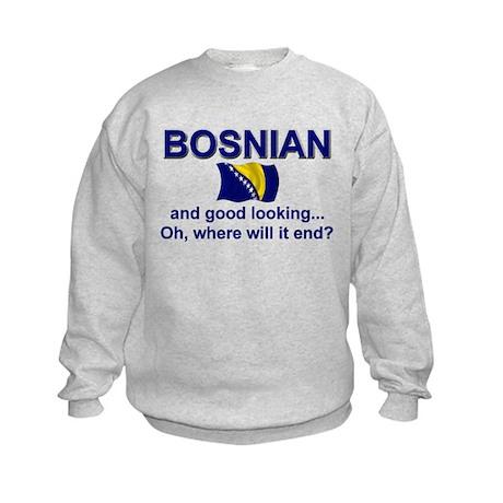 Good Looking Bosnian Kids Sweatshirt