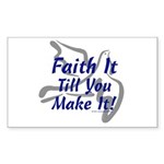 Faith It Till You Make It Rectangle Sticker 50 pk
