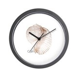 Calm -Sea Shell Mantra Wall Clock