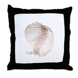 Calm -Sea Shell Mantra Throw Pillow