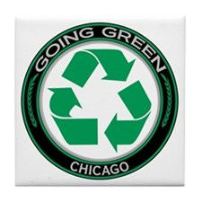 Going Green Chicago Recycle Tile Coaster