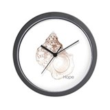 Hope - Sea Shell Mantra Wall Clock
