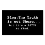 Blog: The Truth is Out There Sticker (Rectangular