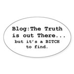 Blog: The Truth is Out There Oval Sticker