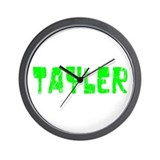 Tayler Faded (Green) Wall Clock