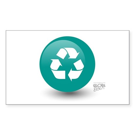 Recycle Rectangle Sticker 10 pk)