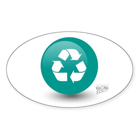 Recycle Oval Sticker (50 pk)