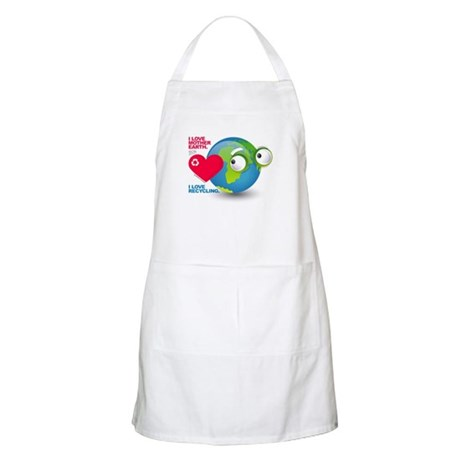 I Love Mother Earth. Recycle BBQ Apron