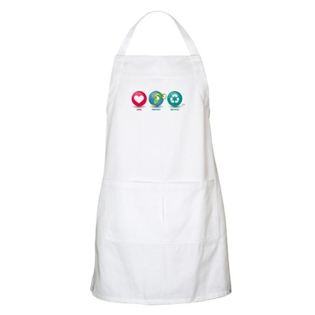 Love, Protect, Recycle BBQ Apron