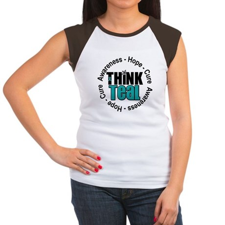 Think Teal v3 Women's Cap Sleeve T-Shirt